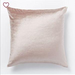 4 West Elm velvet pillow covers
